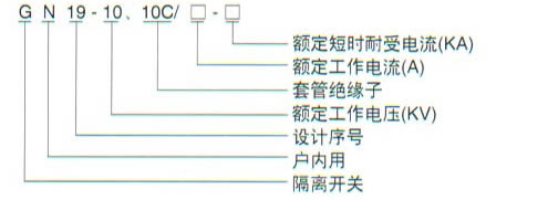 GN19-10户内高压隔离开关的型号及含义