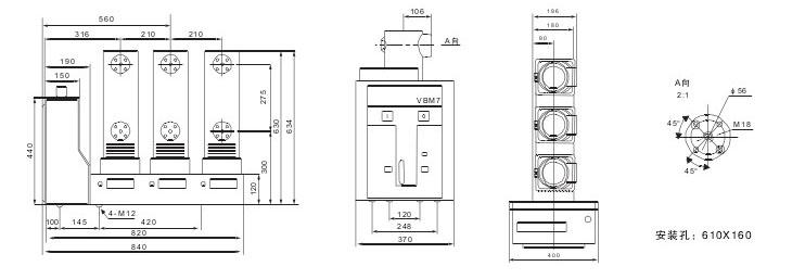 VS1-12C户外真空断路器技术参数及规格含义