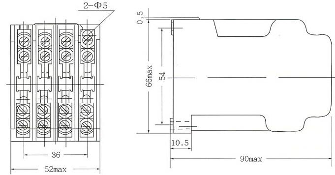 jz7-53中间继电器---5开3闭触点图片